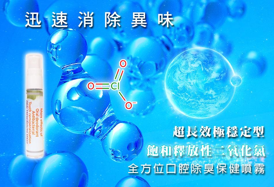 翰強生物科技-最新消息-飽和釋放性二氧化氯-口腔除臭保健噴霧